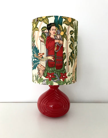 Frida Kahlo Red Ceramic Table Lamp