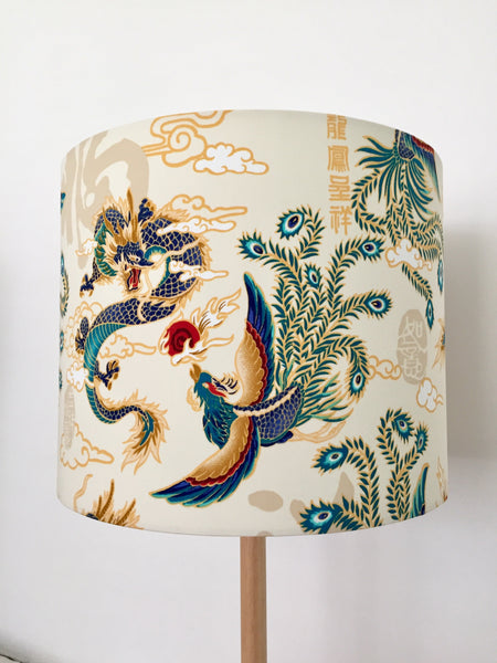 Dragon & Peacock Lampshade | Chinese Lampshade | Asian Mythical