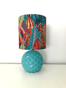 Autumn Leaves Blue Table Lamp