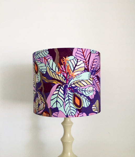 Fig Leaves Lampshade - Purple