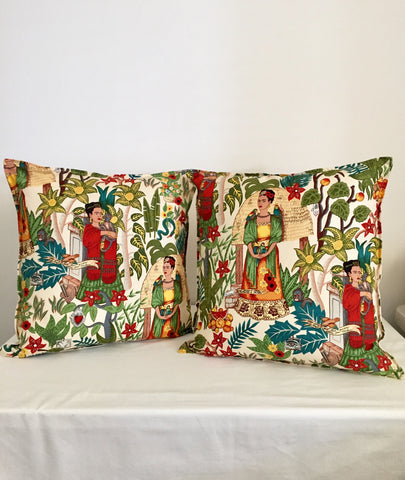 2x Frida Kahlo Cushion Covers | 50cm x 50cm