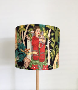 Frida Kahlo Lampshade |  Frida's Garden (BLACK)
