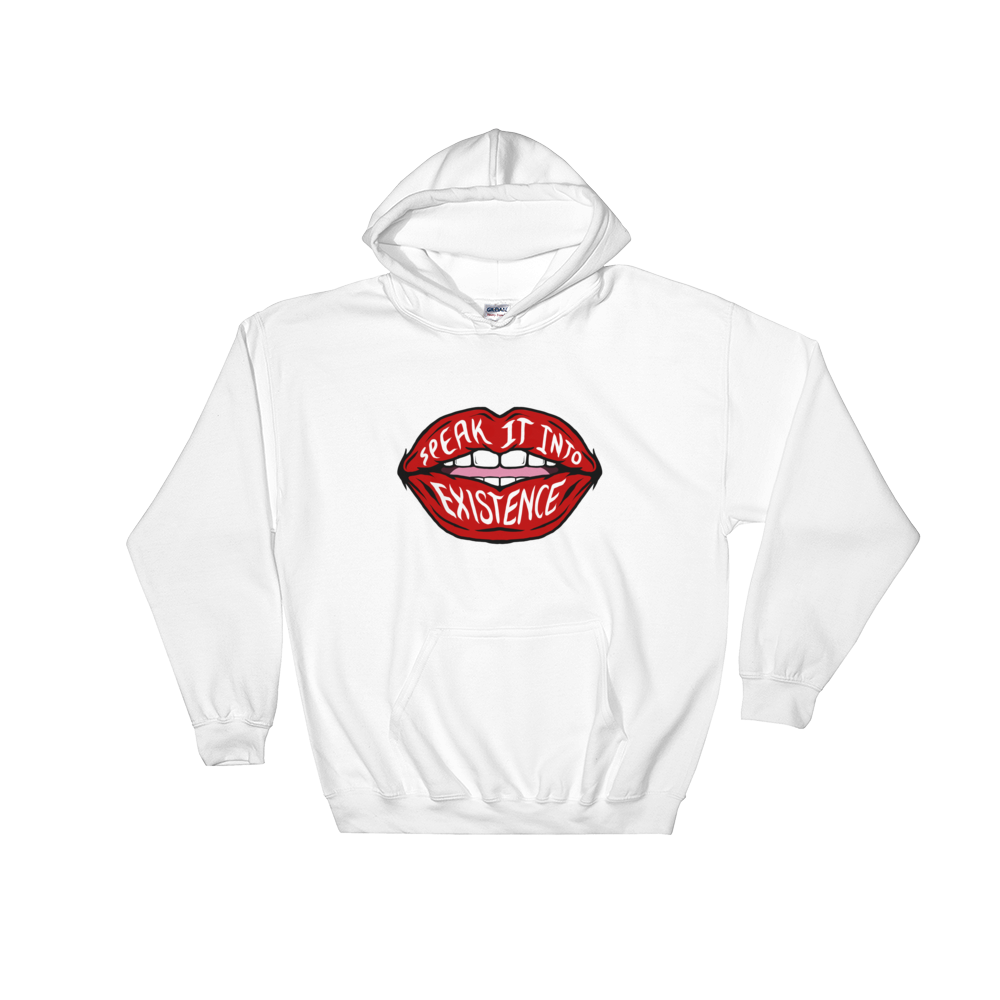 White Speak It Into Existence Hoodie