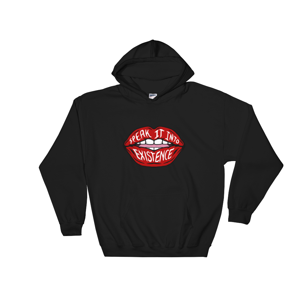 Black Speak It Into Existence Hoodie