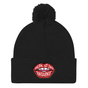Speak Into Existence Pom Pom Beanie