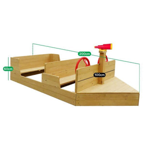 Admiral Play Boat - Boat Sandpit - Dimensions
