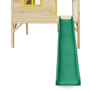 Archie Cubby House with Green Slide - 1.8m wavy slide