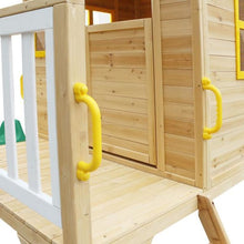 Archie Cubby House with Green Slide - Grip Handles