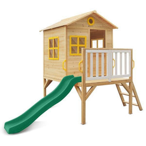 Archie Cubby House with Green Slide - Product Image 1