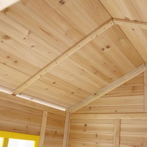 Archie Cubby House with Green Slide - Timber Ceiling