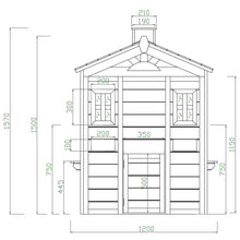 Arlo Cubby House - Dimensions Image 1