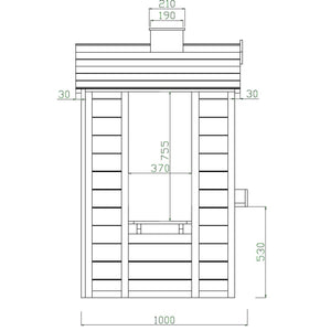 Arlo Cubby House - Dimensions Image 2