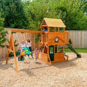 Ashberry Wooden Playset - Outdoor Play Centre - Lifestyle Image 1