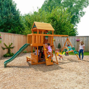 Ashberry Wooden Playset - Outdoor Play Centre - Lifestyle Image 2
