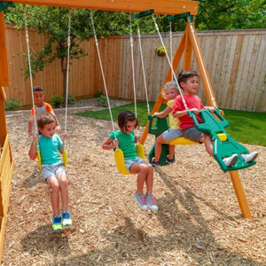 Ashberry Wooden Playset - Multipurpose Swing Features