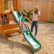 Ashberry Wooden Playset - Wave Slide Feature