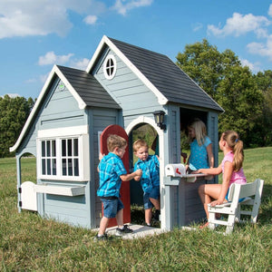 Backyard Discovery Spring Cottage Cubby House - Lifestyle Image 2