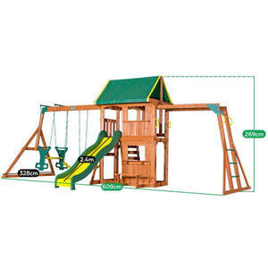 Backyard Discovery Prairie Ridge Play Centre - Dimensions