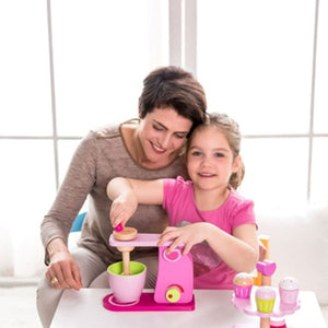 Mum and girl playing with Classic World Mixer - Play Kitchen Accessories - Image 2