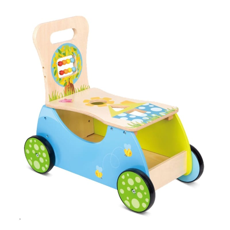 Toddler Wooden Rider and Walker Toy