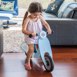 Dash Vespa Balance Bike - Blue - Lifestyle Image 2