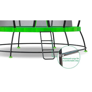 8ft HyperJump3 Spring Trampoline - Comfy Step Ladder