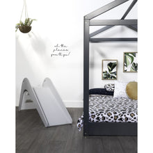 Cubby House Double Bed - White | Grey - Dark Grey - Beds