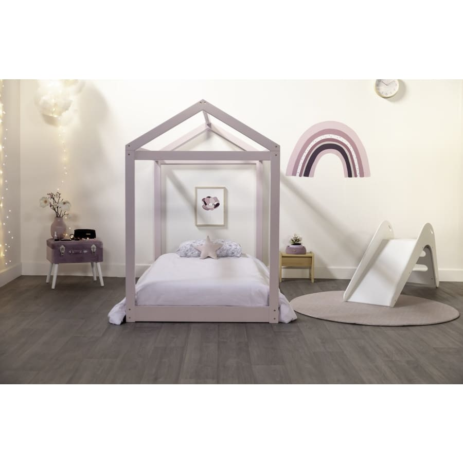 best loved bab1e ac776 Cubby House King Single Bed - White   Grey   Pink