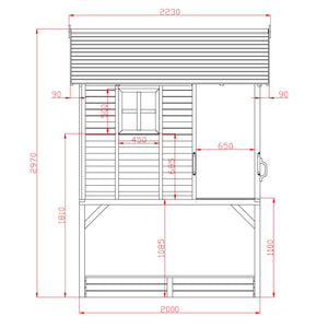 My Kidz Shack® Cubby House - Dimensions Image 1