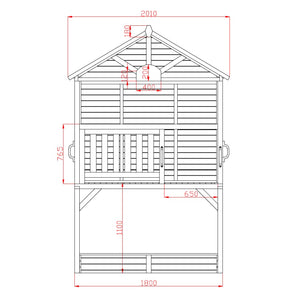 My Kidz Shack® Cubby House - Dimensions Image 2