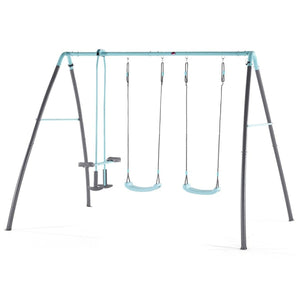 Plum® Premium Metal Double Swing and Glider with Mist - Swing Set