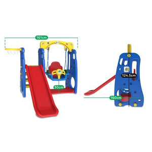 Ruby 4 in 1 Swing & Slide - Toddler Play Equipment - Dimensions
