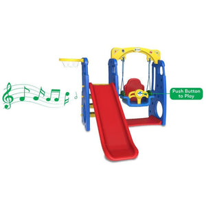 Ruby 4 in 1 Swing & Slide - Toddler Play Equipment - Music Feature