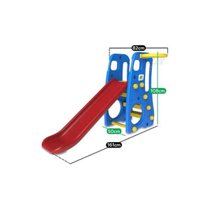 Toddler Topaz 2 in 1 Slide and Play - Basketball Set - Dimensions