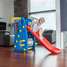 Girl sliding down the Toddler Topaz 2 in 1 Slide and Play