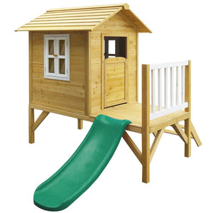 Wallaby 2 Cubby House with Green Slide - Image 1