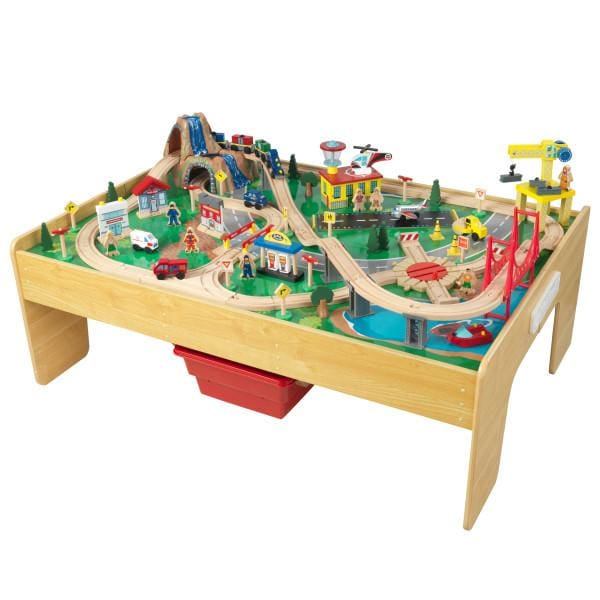 Kids Adventure Town Railway Train Set and Table