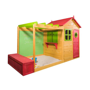 Archie Cubby House with Chalkboard, Sandpit and Storage Box - Image 3