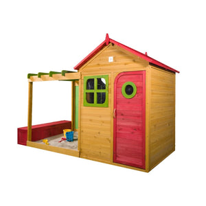 Archie Cubby House with Chalkboard, Sandpit and Storage Box - Image 2