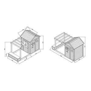Archie Cubby House - Drawing and Dimensions
