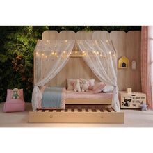 Bed Trundle System Add-On - Natural Pine - Canopy Hideaway Kids Bed
