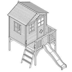 Charlie Cubby House - Drawing