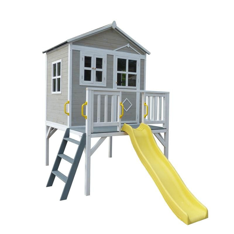 Charlie Cubby House - Kids Cubby House - Elevated Cubby House with Slide
