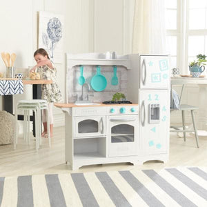 Girl and Kids Country Play Kitchen