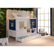 Wooden Cubby House Bed - White