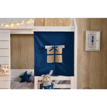 Wooden Cubby House Bed - Fabric Window