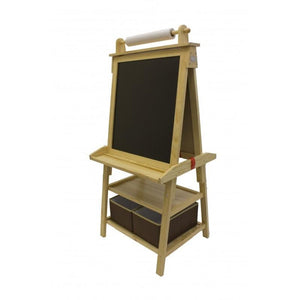 Kids Blackboard Easel - Natural Wood