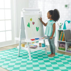 Deluxe Wooden Easel - Girl Painting on Easel