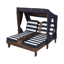 Kids Outdoor Lounge - Navy and White stripe