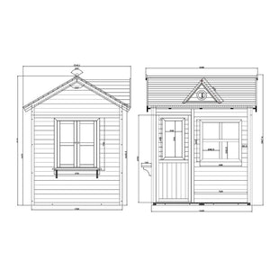 Kids Cubby House - Drawing and Dimensions